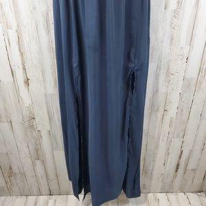 H&M Dresses - H&M Women Maxi Dress Blue/Black Thin Strap Blouson